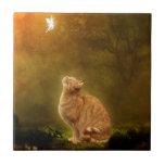 "Cat And Fairy Tile<br><div class=""desc"">Meow</div>"