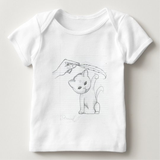 Cat And Feather Baby T-Shirt