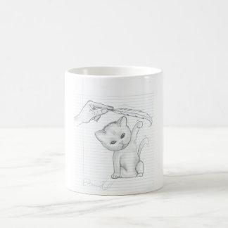 Cat And Feather Coffee Mug