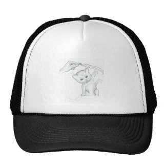 Cat And Feather Trucker Hat