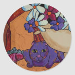 Cat and Figs Classic Round Sticker