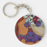 Cat and Figs Key Chains