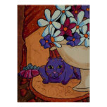 Cat and Figs Print