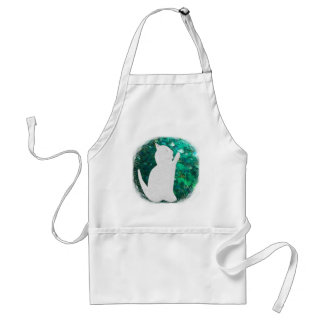 Cat and fish adult apron