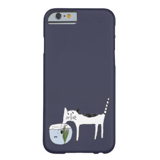 Cat and fish barely there iPhone 6 case
