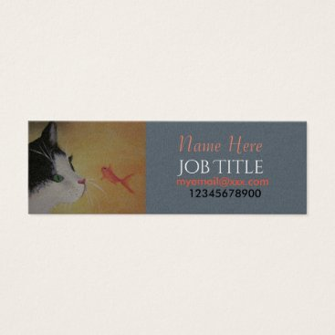 Professional Business Cat and fish business card