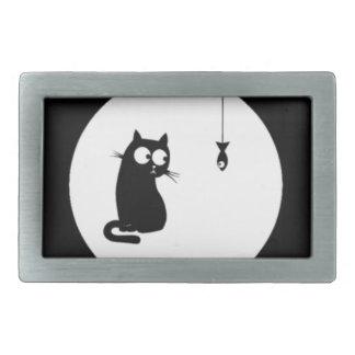 Cat and Fish (Cat and Fish) Rectangular Belt Buckle
