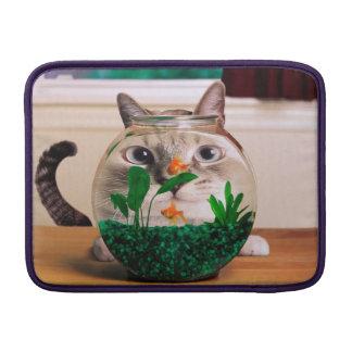 Cat and fish - cat - funny cats - crazy cat MacBook air sleeve