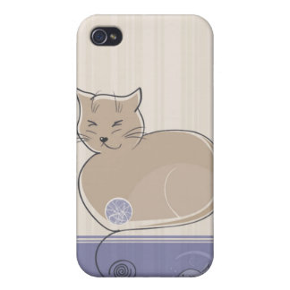 Cat and Fish i iPhone 4 Cases