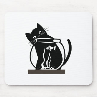 Cat and Fish Mousepad