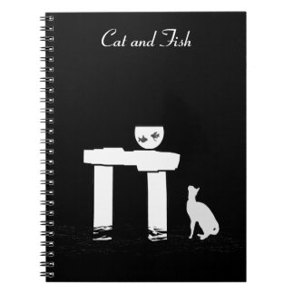 Cat and fish - notebook