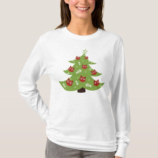 Cat And Fish Ornaments Christmas Tree Long Sleeve