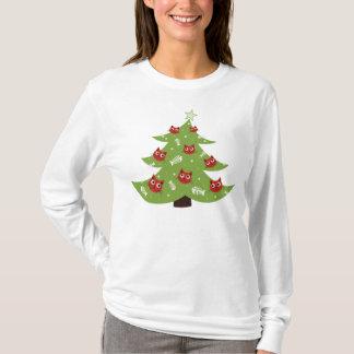Cat And Fish Ornaments Christmas Tree Long Sleeve T-Shirt