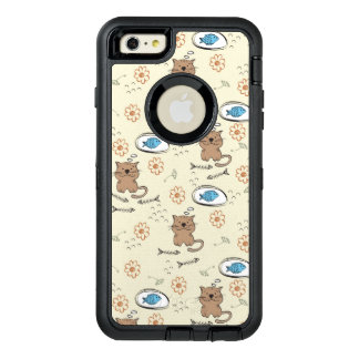 cat and fish pattern OtterBox iPhone 6/6s plus case