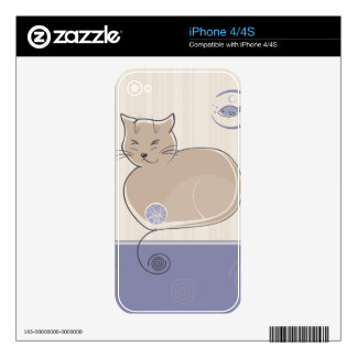 Cat and Fish Skins For iPhone 4S