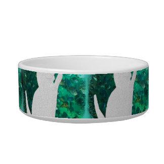 Cat and fish tank design cat food bowls
