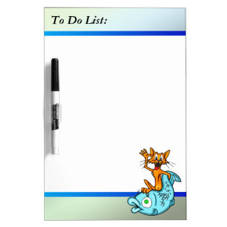 Cat And Fish To Do List Dry Erase Board