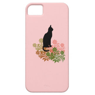 Cat and flower iPhone SE/5/5s case