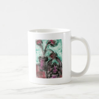 Cat and Flowerpot II Classic White Coffee Mug