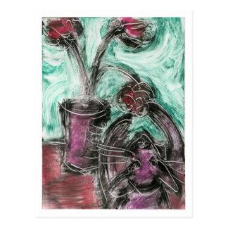 Cat and Flowerpot II Postcard