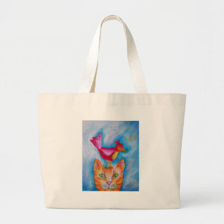 Cat and Friend Tote Bag