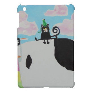 cat and frog on a cow painting Gordon Bruce art Case For The iPad Mini
