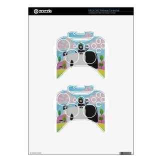 cat and frog on a cow painting Gordon Bruce art Xbox 360 Controller Skins
