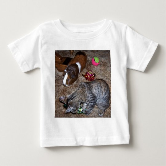 cat and guinea pig baby T-Shirt
