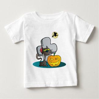 Cat and Halloween Pumpkin Winking Tee Shirts