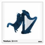 Cat and harp wall sticker