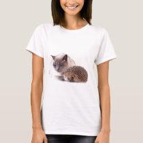 cat and hedgehog T-Shirt