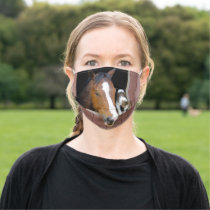 Cat and horse - horse ranch - horse lovers cloth face mask