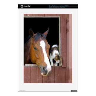 Cat and horse - horse ranch - horse lovers PS3 console decal