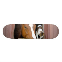 Cat and horse - horse ranch - horse lovers skateboard deck