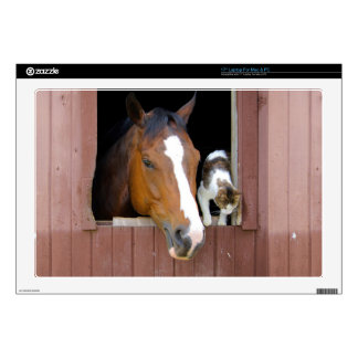 "Cat and horse - horse ranch - horse lovers skin for 17"" laptop"