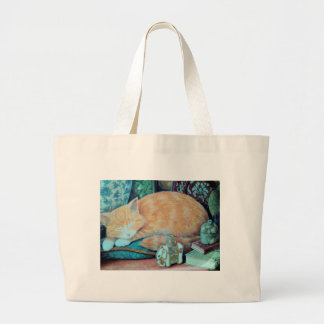 Cat and Indian Elephant Design Canvas Bag