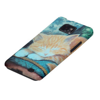Cat and Indian Elephant Design Galaxy S2 Covers