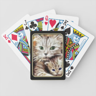 Cat and Kitten Fractal Art Playing Cards