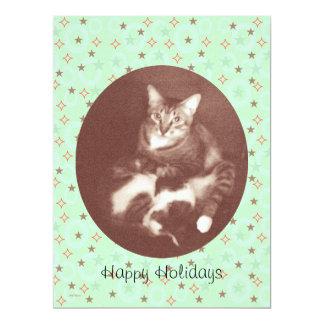 Cat and Kitten Happy Holidays Season's Greetings Card