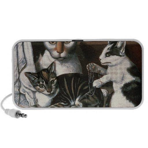 Cat and Kittens, c.1872-1883 iPhone Speaker