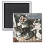Cat and Kittens, c.1872-1883 Magnet