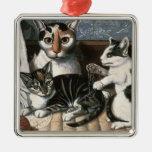 Cat and Kittens, c.1872-1883 Metal Ornament