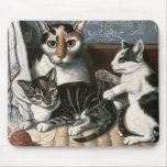 Cat and Kittens, c.1872-1883 Mouse Pad