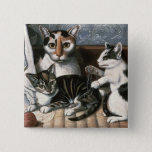 Cat and Kittens, c.1872-1883 Pinback Button