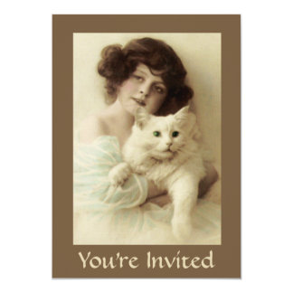 Cat and Lady PURRfect Beauty Party Invitation