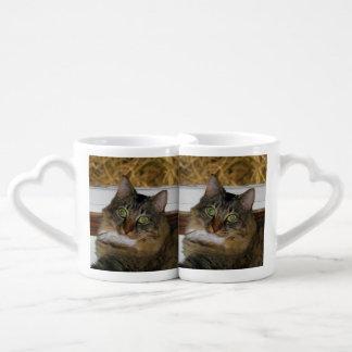 Cat and Matching Background Coffee Mug Set