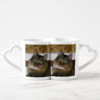 Cat and Matching Background Couples Coffee Mug