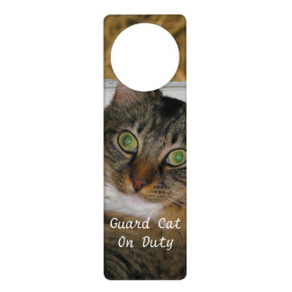 Cat and Matching Background Door Hanger