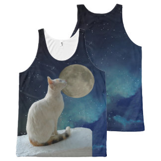 Cat and Moon All-Over-Print Tank Top