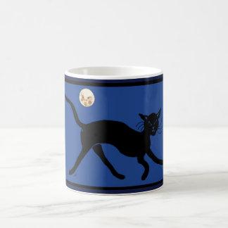 cat and moon coffee mug